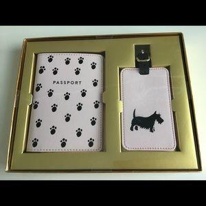 Eccolo Passport & Luggage Scottish Paws Tag Set